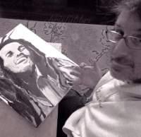 "2016 Bob Marley, acrylic on canvas 20""x16"""