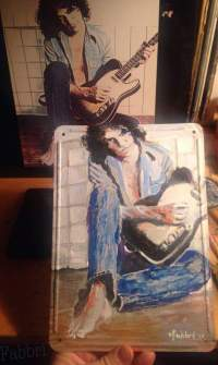 """2017 Billy Squier, acrylic on metal 10""""x7"""""""