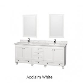 Acclaim  White | Available Sizes: 24″, 30″, 36″, 48″, 60″, 72″, 80″, Tower and Wall Cabinet