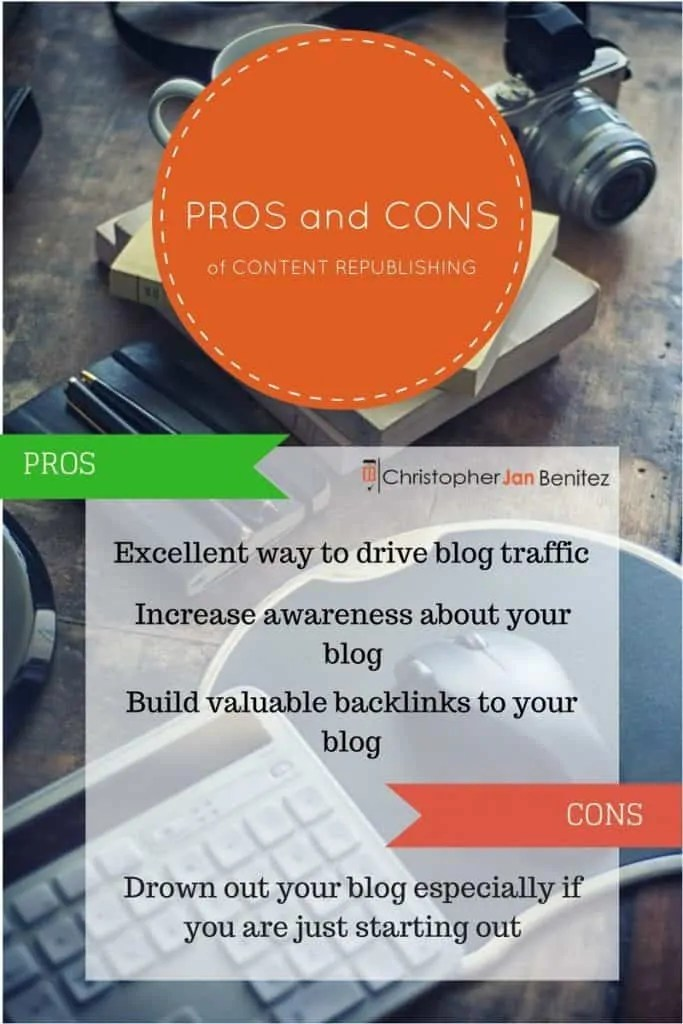 PROS and CONS of CONTENT REPUBLISHING