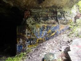 The Sun, graffiti, Deliveranceville Quarry.