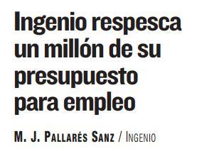 Ingenio repesca un millón de euros a empleo.