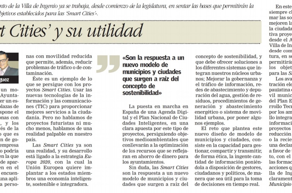 Las «Smart Cities» y su utilidad.