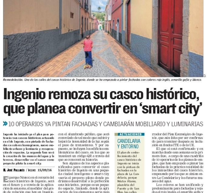 Ingenio planea convertir el casco en una «Smart City».