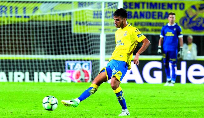 Fabio González, debut en Primera División con la UD Las Palmas.