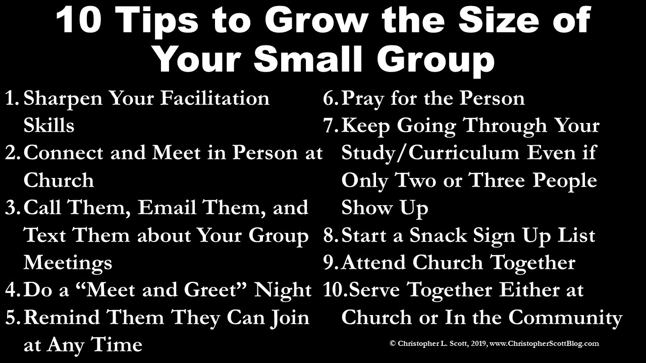 Grow the Size of Your Small Group | Christopher L  ScottGrow the