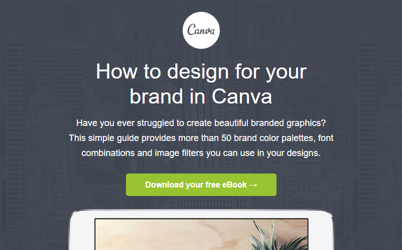 E-mail Marketing Canva