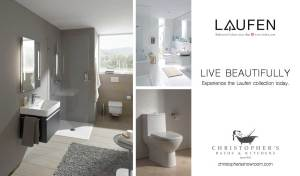 Laufen bathroom vanities, toilets and ceramic sanitary ware at Christopher's Kitchen & Bath.
