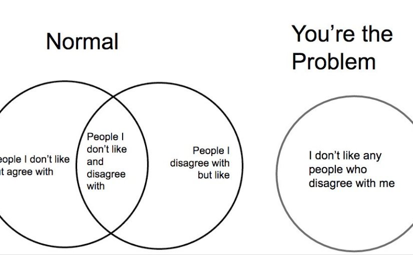 People you disagree with and people you dislike are two different groups