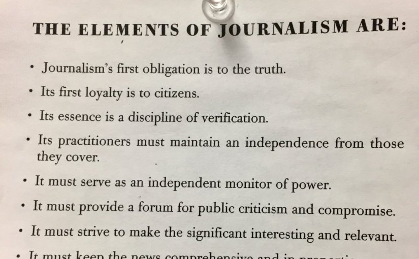 """The """"Elements of Journalism"""""""