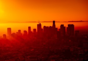 Los Angeles Orange Skyline