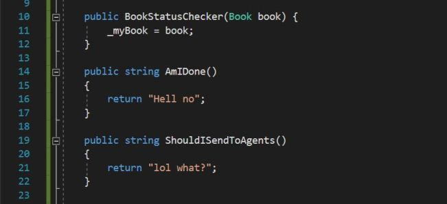 The Definition of Done - code snippet