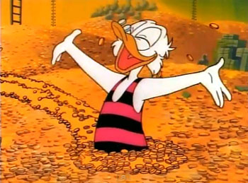 Scrooge McDuck was a self-publisher