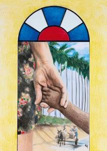 Grafik: Ruth Mariet Trueba Castro/Kuba, © Weltgebetstag der Frauen – Deutsches Komitee e.V.