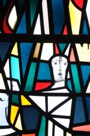 Ausschnitt aus dem Verkündigungsfenster (Pfingstpredigt)