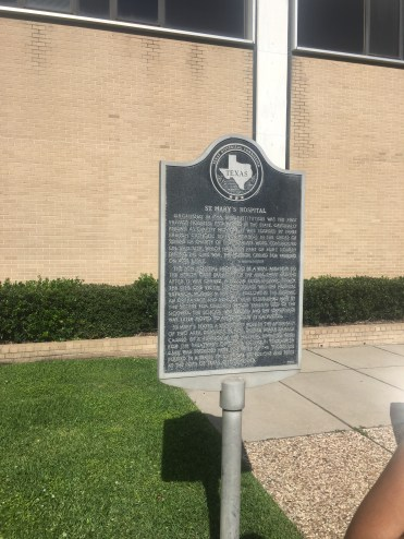 """The location of teh Charity Hospital was in """"Block 487"""" on the eastern end of the city. It would be the first Catholic hospital and first private hospital in the State of Texas."""
