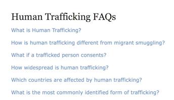 UNODC – HUMAN TRAFFICKING FAQs