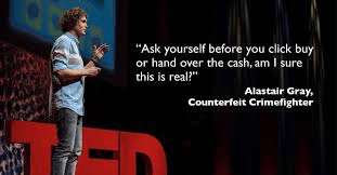 TED – HUMAN TRAFFICKING AND SUPPLY CHAIN – Alastair Gray is a brand protection manager responsible for policing the internet for counterfeits, rip-offs and brand abuse