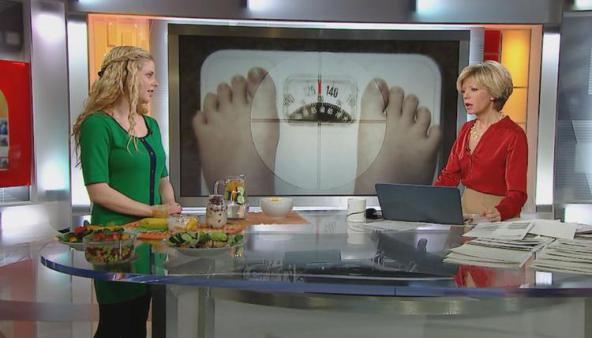 Best media dietitian nutritionist food expert Toronto Christy Brissette 80 Twenty Nutrition live on CBC National News with Heather Hiscox