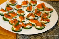 Smoked Salmon Bites with yogurt, cucumber and dill - - gluten free, slow carb - Christy Brissette media dietitian - 80 Twenty Nutrition