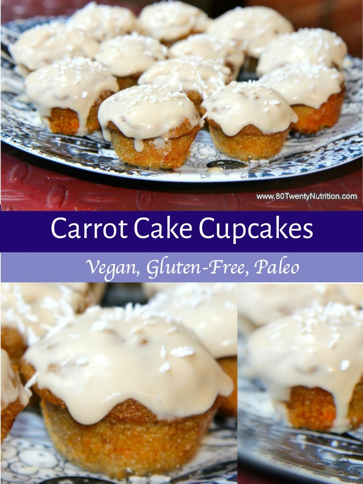Carrot Cake cupcakes - paleo, gluten free, dairy free, vegan - Christy Brissette media dietitian nutritionist Toronto Los Angeles 80 Twenty Nutrition