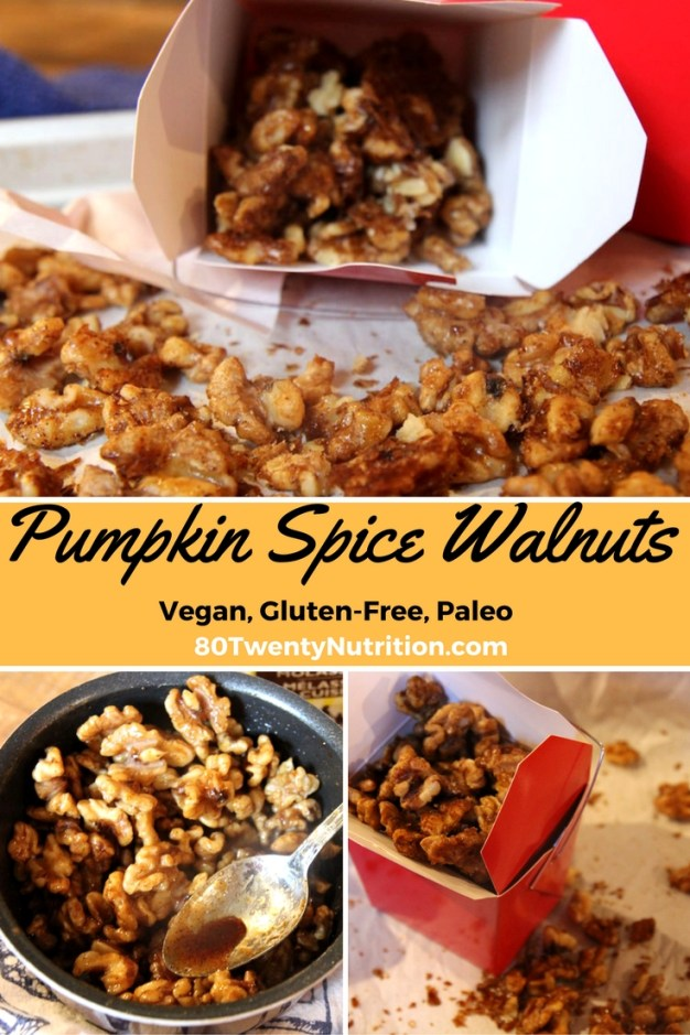 Pumpkin Spice Walnuts - roasted spiced nuts healthy snack - Christy Brissette media dietitian 80 Twenty Nutrition Toronto Los Angeles