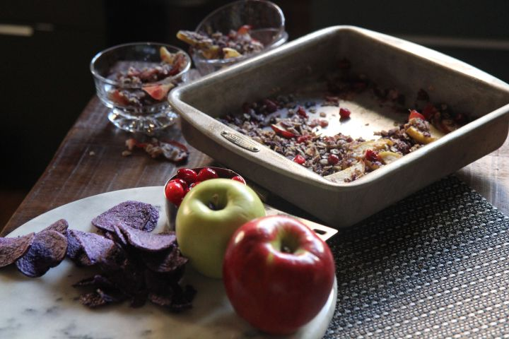 Apple Cranberry Crumble - Vegan, Nut-Free and Gluten-Free - Christy Brissette media registered dietitian 80 Twenty Nutrition