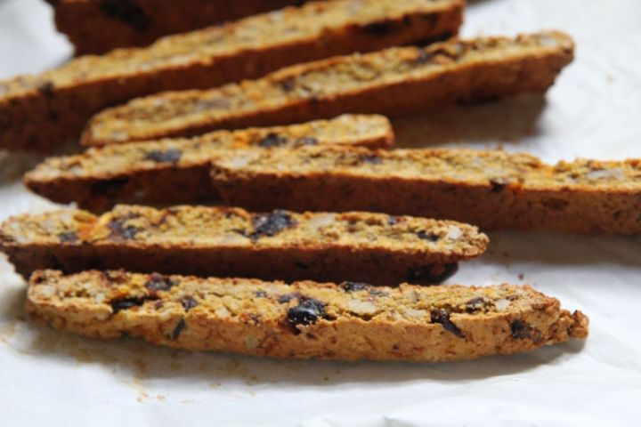 Butternut Squash Biscotti with Dates and Walnuts - vegan and gluten free - registered dietitian nutritionist Christy Brissette 80 Twenty Nutrition
