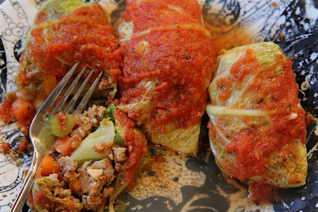 Low Carb Turkey Cabbage Rolls - gluten free, keto, paleo - Christy Brissette media registered dietitian nutritionist 80 Twenty Nutritionist
