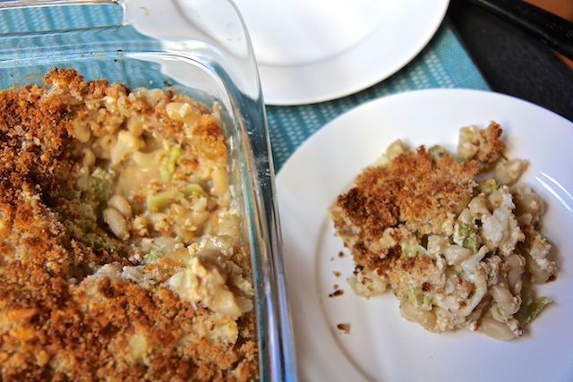 Lighter Mac and Cheese with Broccoli and Cauliflower - Gluten-Free, Vegetarian, High Fiber - recipe by Christy Brissette, media registered dietitian, 80 Twenty Nutrition