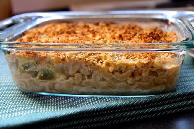 Lighter Baked Mac and Cheese with Broccoli and Cauliflower - Gluten-Free, Vegetarian, High Fiber - recipe by Christy Brissette, media registered dietitian, 80 Twenty Nutrition