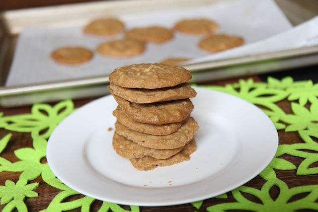 3 Ingredient Peanut Butter Cookies - vegan, gluten-free, sugar free, low carb, keto, no refined sugar - recipe by Christy Brissette, media registered dietitian nutritionist 80 Twenty Nutrition in Toronto and Los Angeles