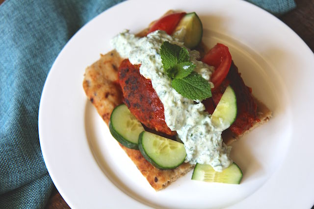 Turkey Kofta with Moroccan Yogurt Sauce - Slow Cooker-Friendly and Gluten-Free! recipe by Christy Brissette media registered dietitian nutritionist and president of 80 Twenty Nutrition Communications in Toronto and California