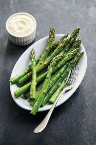 Ruth's Chris Steak House Lighter Recommendations Menu - grilled asparagus - how to eat healthier and low calorie at a steakhouse - Christy Brissette media registered dietitian nutritionist 80 Twenty Nutrition