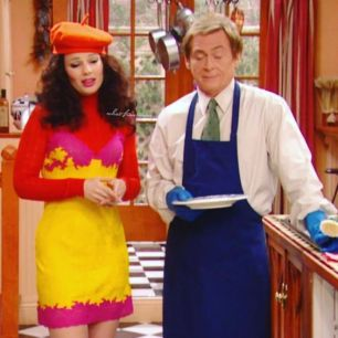 Fran Fine and Niles on The Nanny