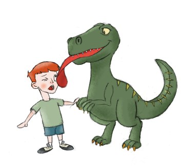 Dino kisses