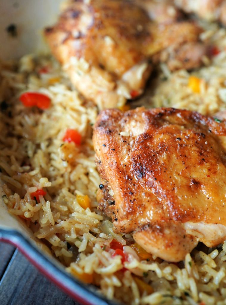 Quick and Easy Cajun Chicken and Rice recipe