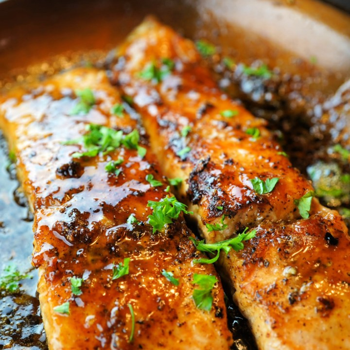Maple Ginger and Garlic Salmon