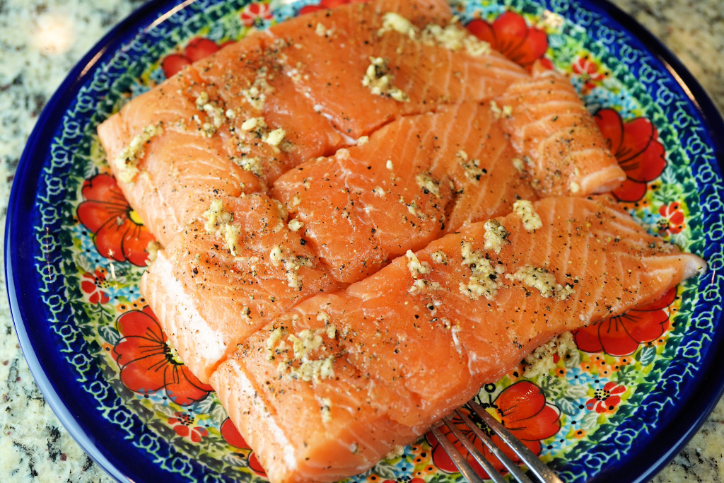 Maple Ginger and Garlic Salmon recipe preparation