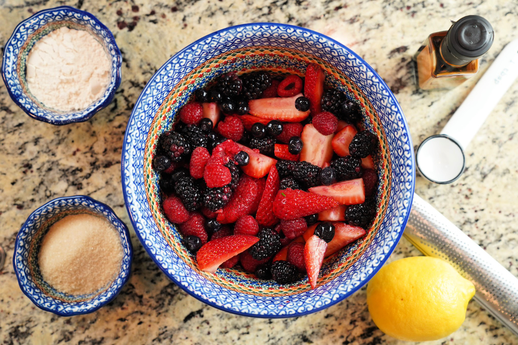 Learn how to make a mixed berry crisp with the ingredients you have on hand.