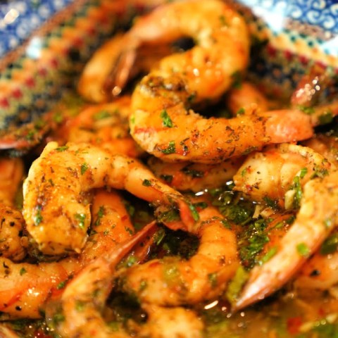Oven Roasted BBQ Jerk Shrimp