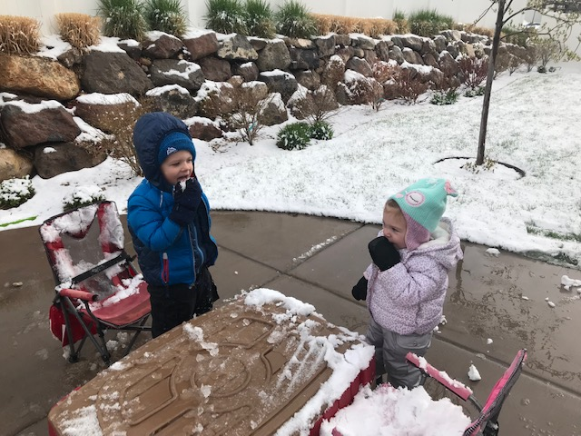 kids in snow March 2019