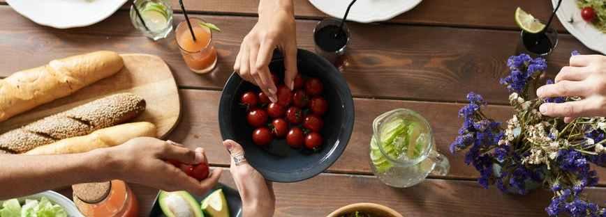 sharing cherry tomatoes