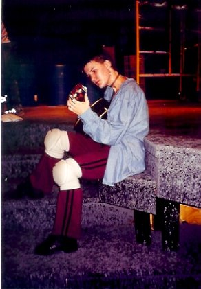 Godspell rehearsal, Mill Mountain Theatre, 1999