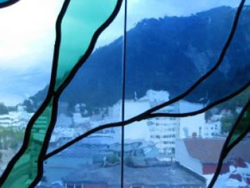Juneau through the Library's Stained Glass