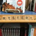 Mystery Shelf Talker at Godfather's Books in Astoria, OR (WildmooBooks.com)