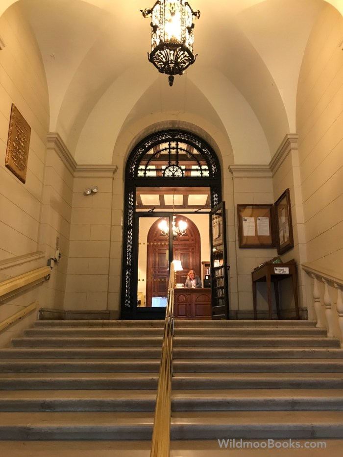 The New York Society Library - Entrance (WildmooBooks.com)