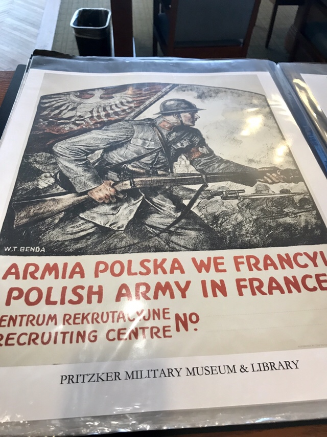 Armia Polska poster at the Pritzker Military Museum and Library (WildmooBooks.com)