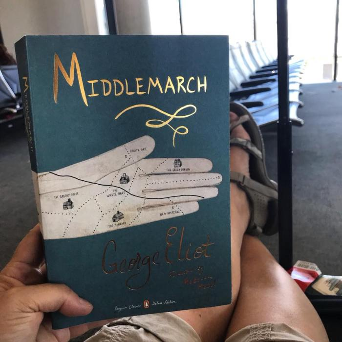 Middlemarch at the airport (WildmooBooks.com)