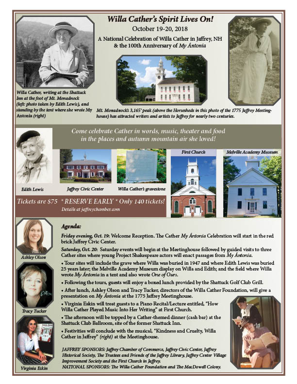 Willa Cather's Spirit Lives On! Poster